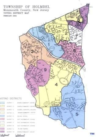 voting districts map